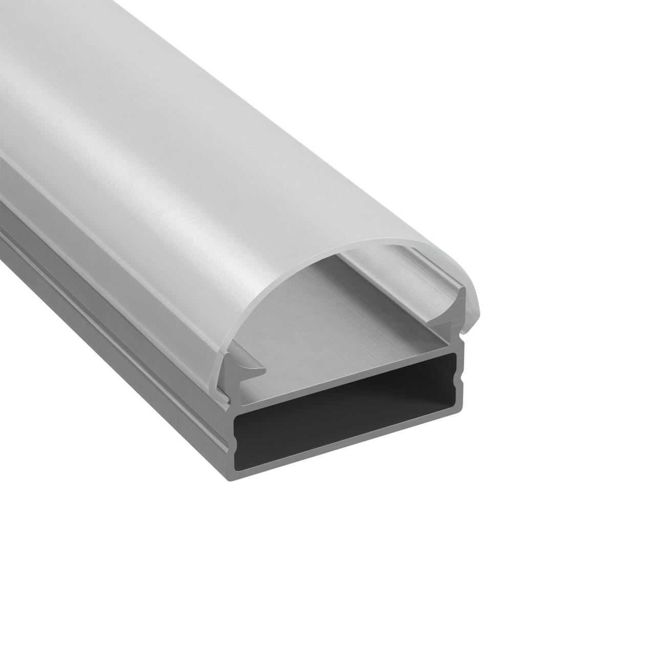 Профиль с полукруглыйым рассеивателем для светодиодной ленты, алюминий, 1шт 3м Lightstar 409319