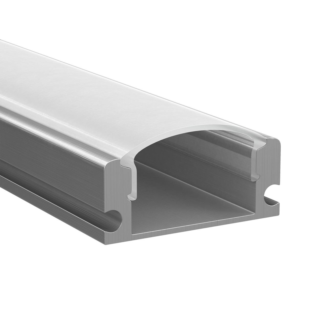 Профиль Profiledс с прямоугольным рассеивателем для светодиодных лент, алюминий, 1шт 2м Lightstar 409429