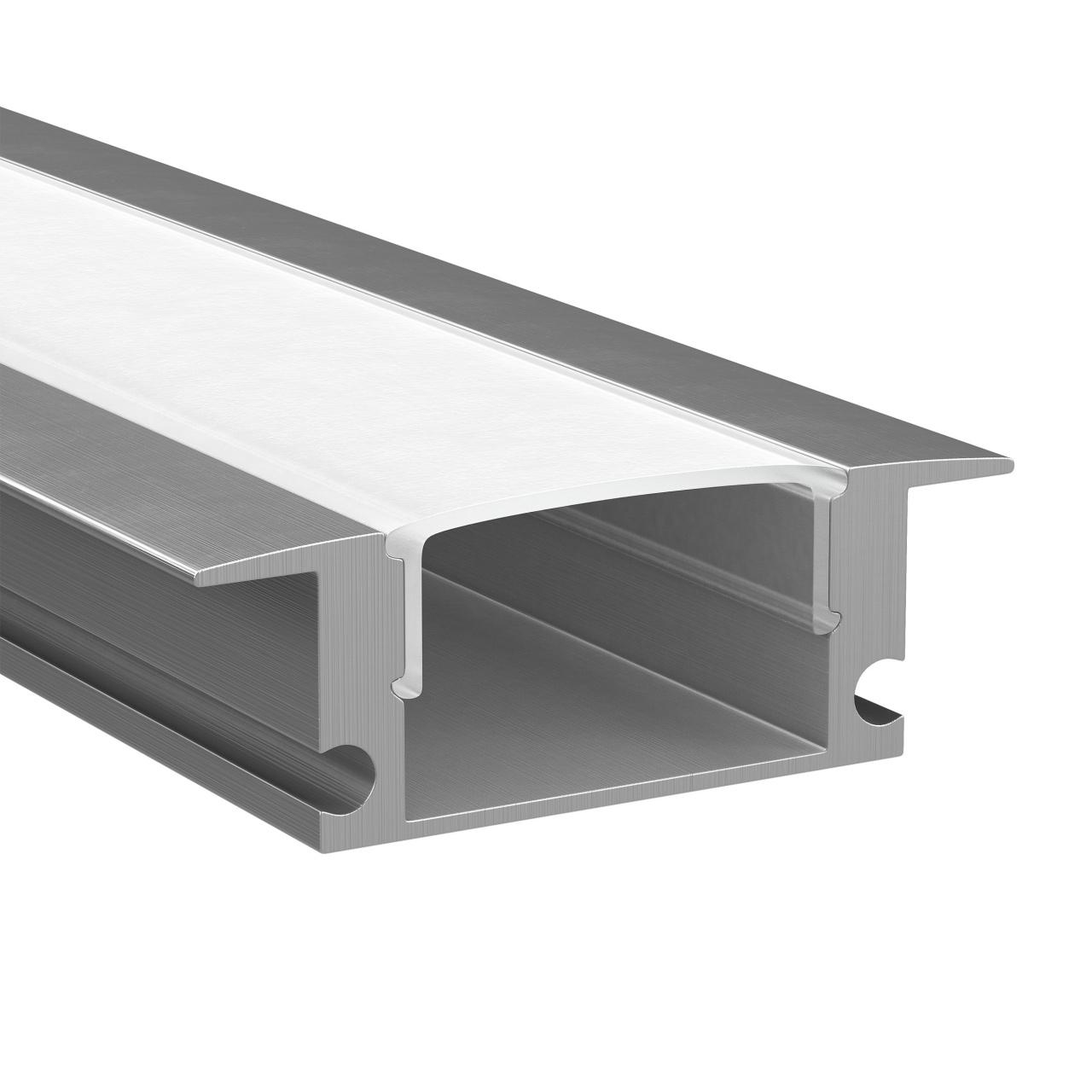 Профиль Profiledс с прямоугольным рассеивателем для светодиодных лент, алюминий, 1шт 2м Lightstar 409529