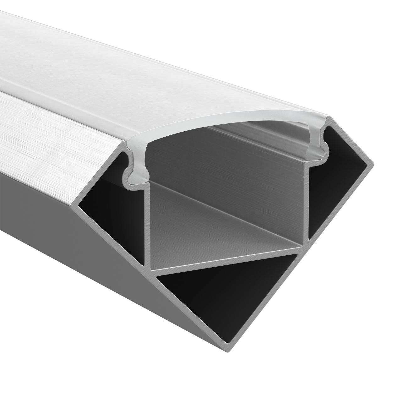 Профиль Profiled с полукруглым рассеивателем для светодиодных лент, алюминий, 1шт 2м Lightstar 409629