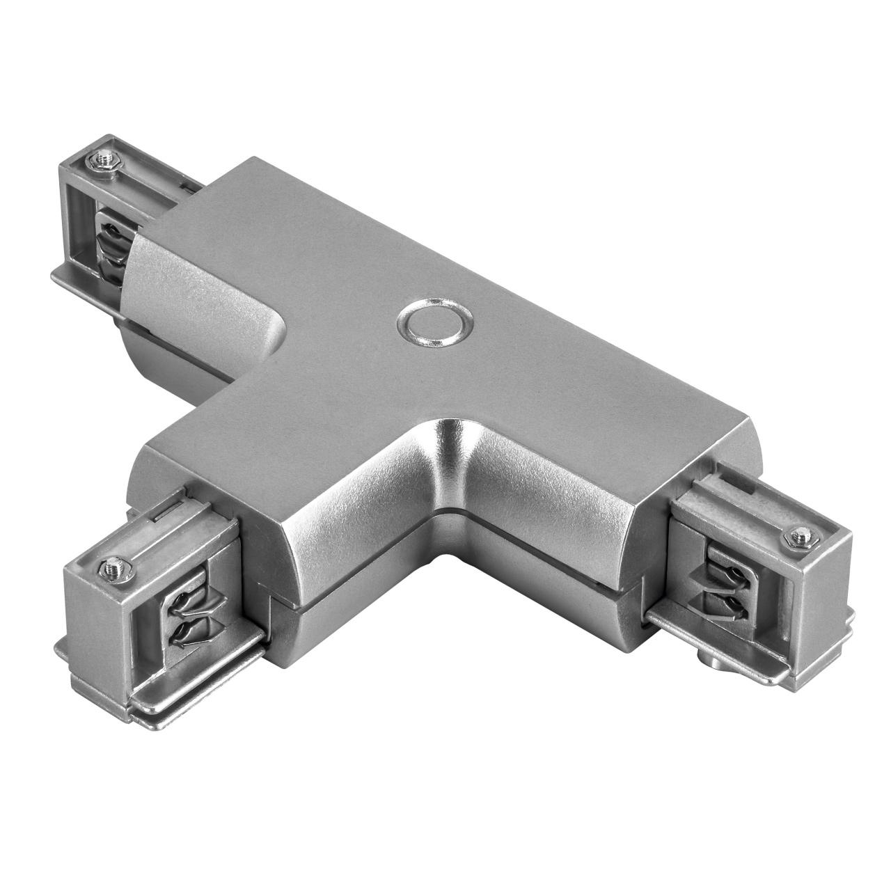 Соединитель трековый трехфазный Barra T-образный серый Lightstar 504139