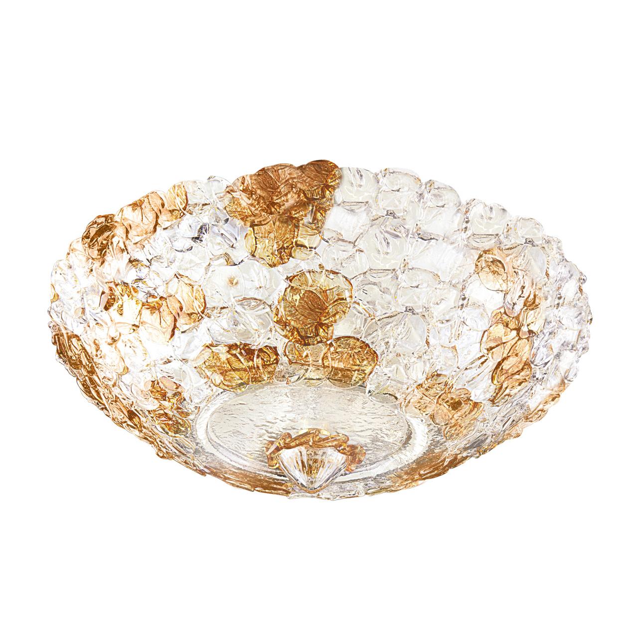 Плафон потолочный Murano 6х40W E14 amber Lightstar 604073