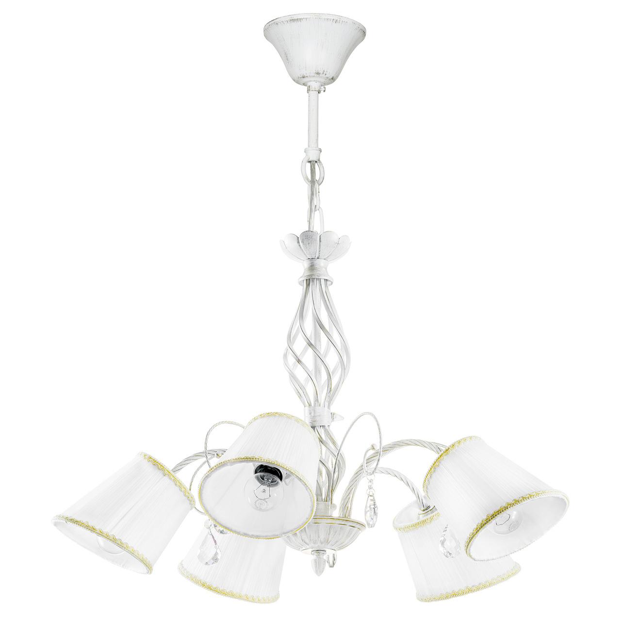 Люстра подвесная Esedra 5x40W E27 antic white ткань Lightstar 796156