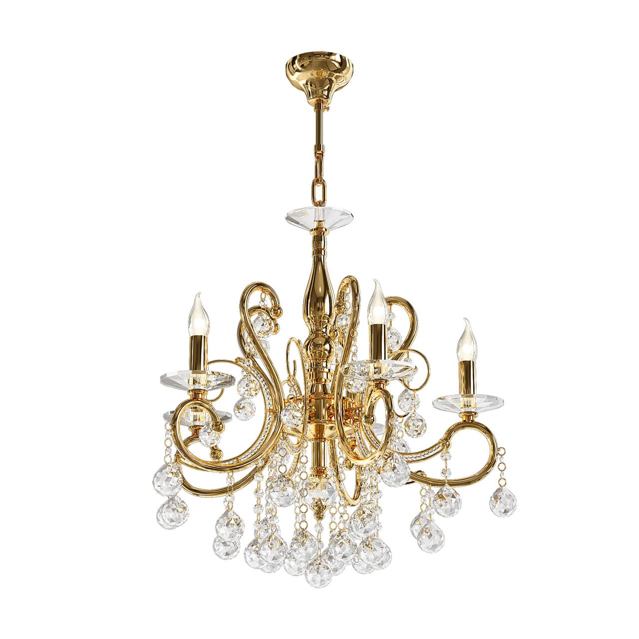 Люстра подвесная Elegante 5х60W E14 24K золото Osgona 708052
