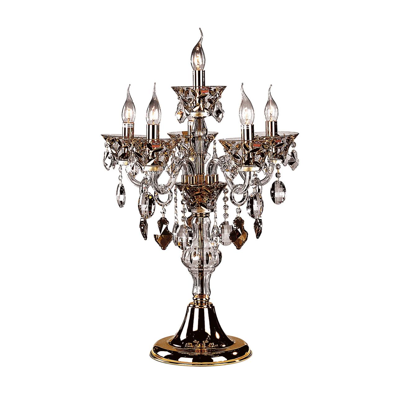 Настольная лампа Tesoro 6х60W E14 24К золото Osgona 710952