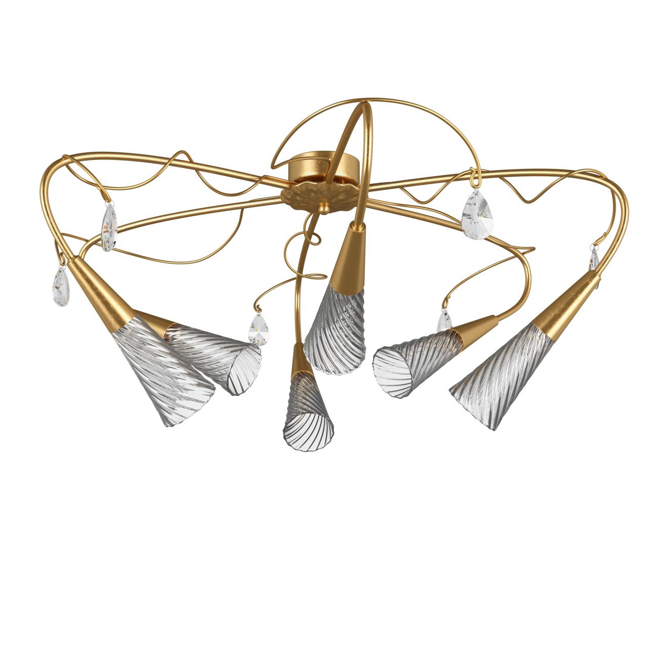 Люстра потолочная Aereo 6х25W G9 gold foil Lightstar 711063