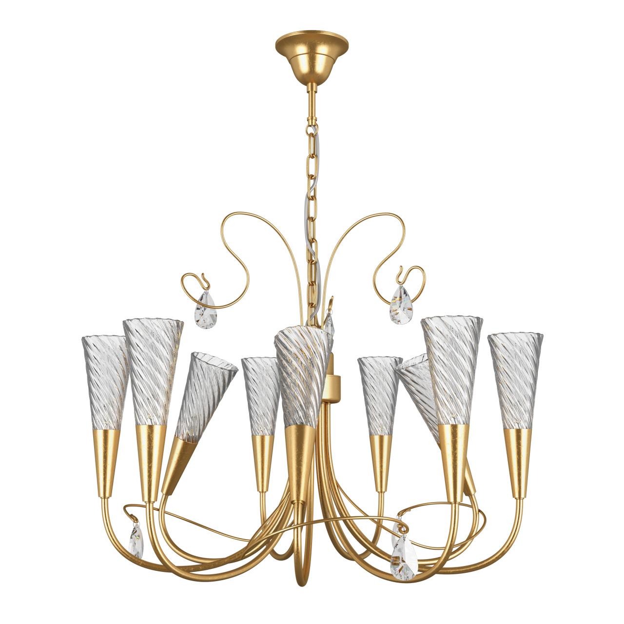 Люстра подвесная Aereo 9х25W G9 gold foil Lightstar 711093