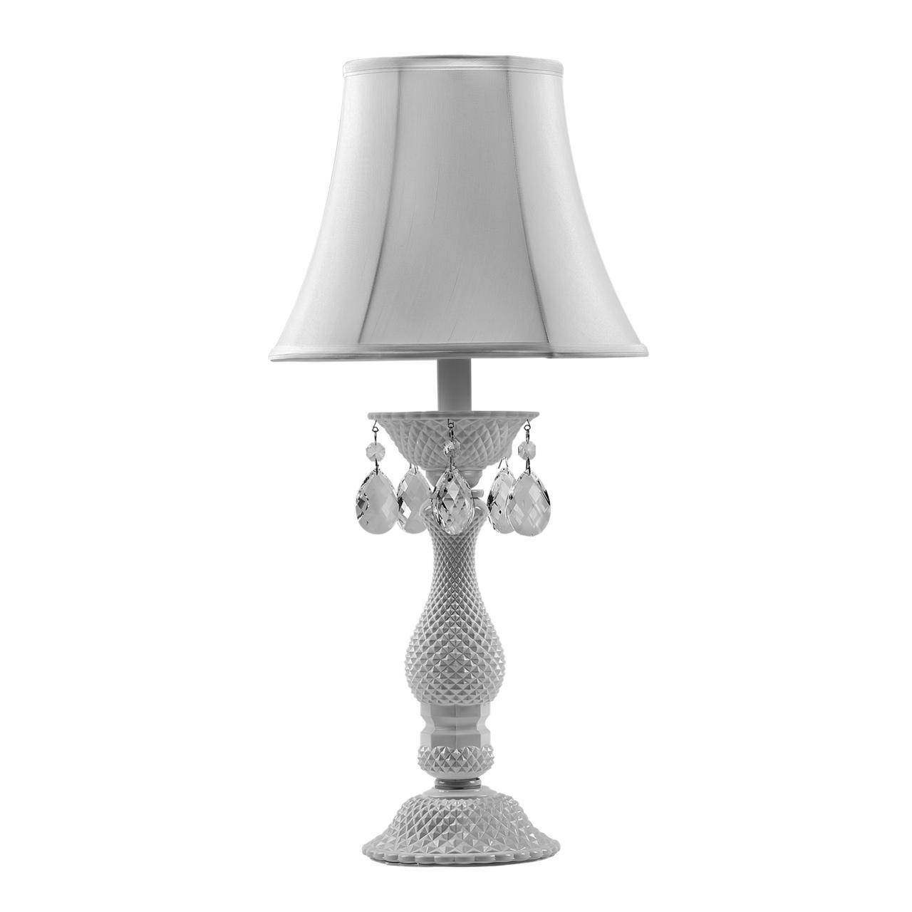 Настольная лампа Princia 1х40W E27 белый / прозрачный Osgona 726911