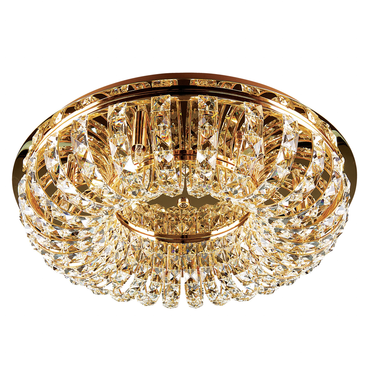 Плафон потолочный Onda 7х40W G9 золото Lightstar 741072