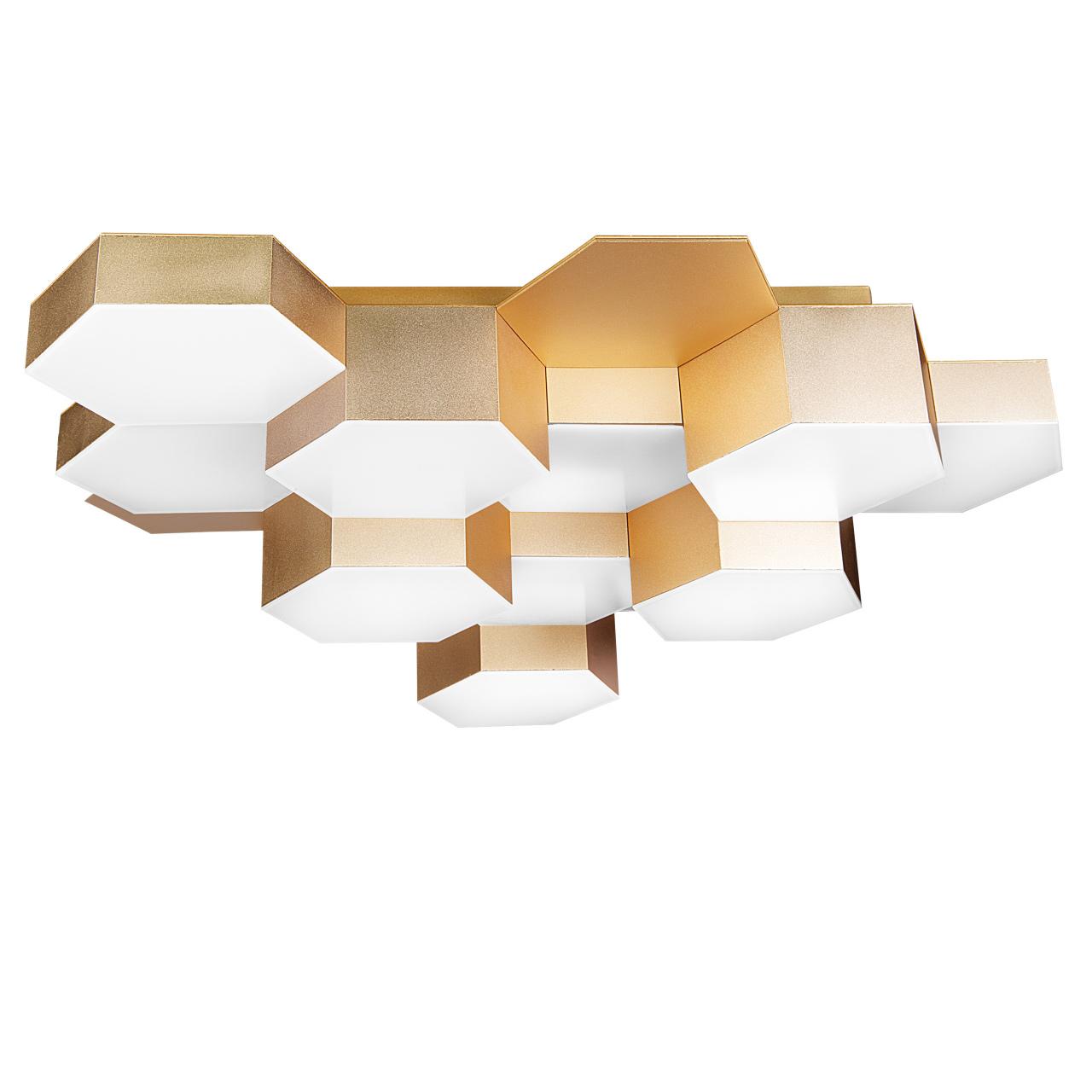 Светильник потолочный Favo LED-60W 2880LM satin gold 4000K Lightstar 750123