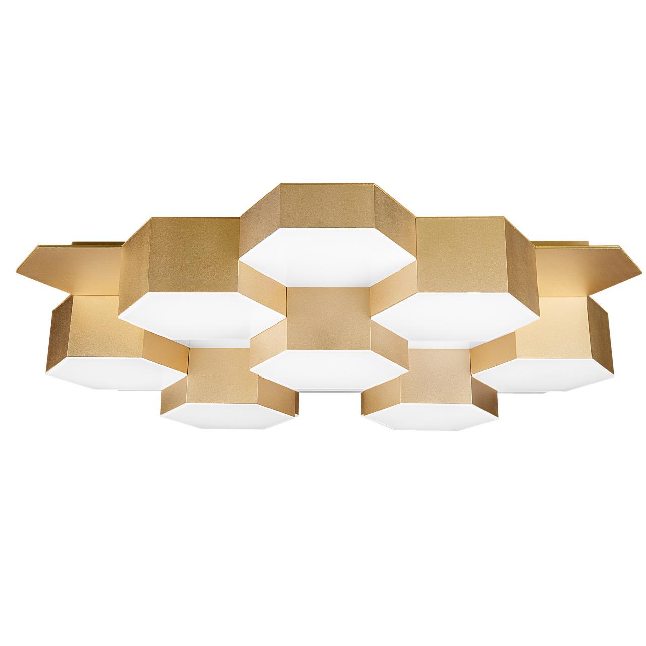 Светильник потолочный Favo LED-80W 3840LM satin gold 4000K Lightstar 750163