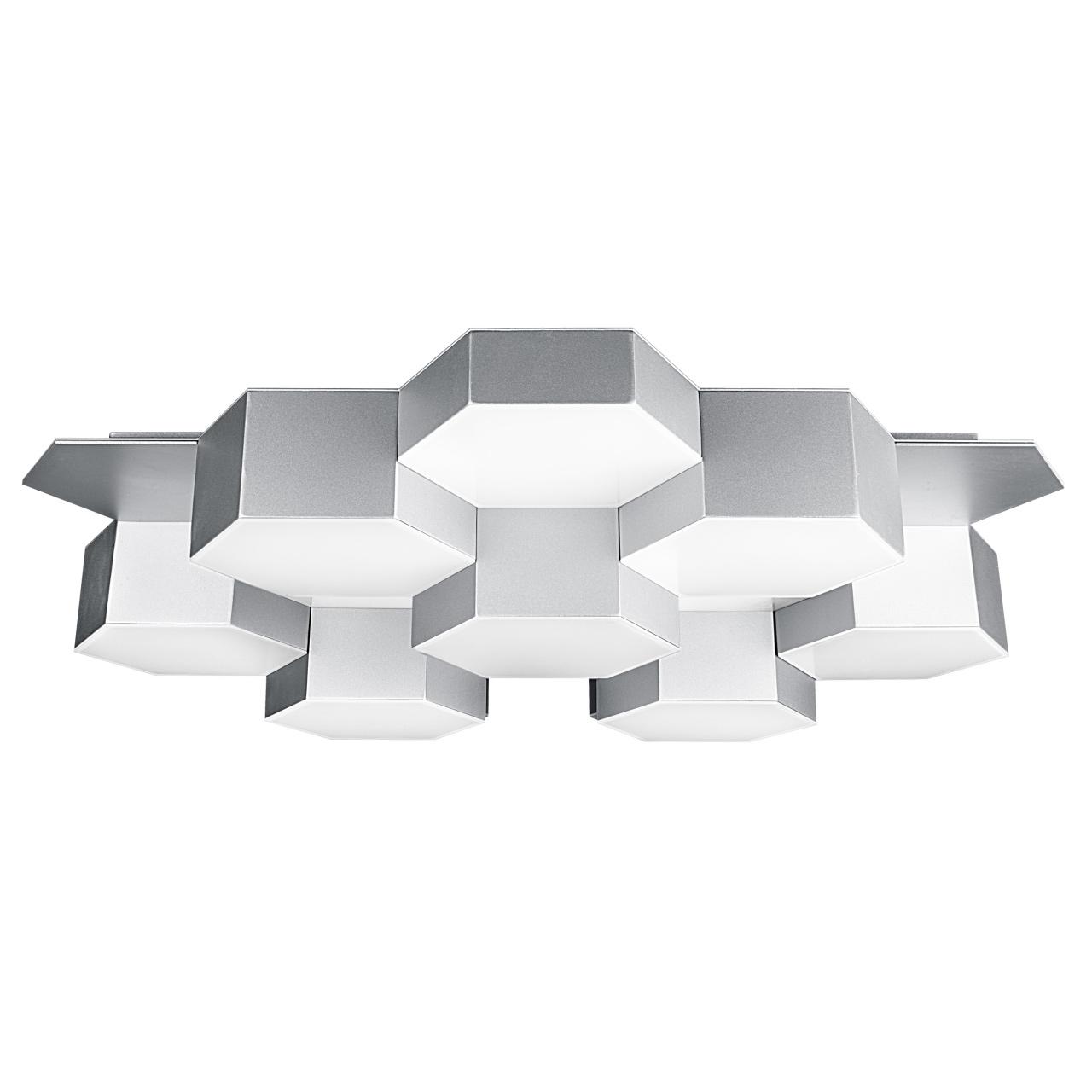 Люстра потолочная Favo LED-80W 3840LM silver 4000K Lightstar 750164