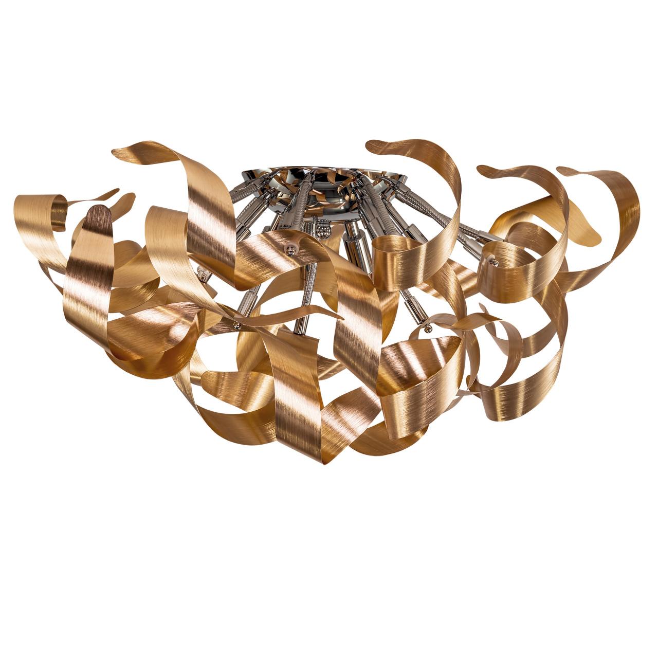 Люстра потолочная Turbio 6х40W G9 светлая медь Lightstar 754061