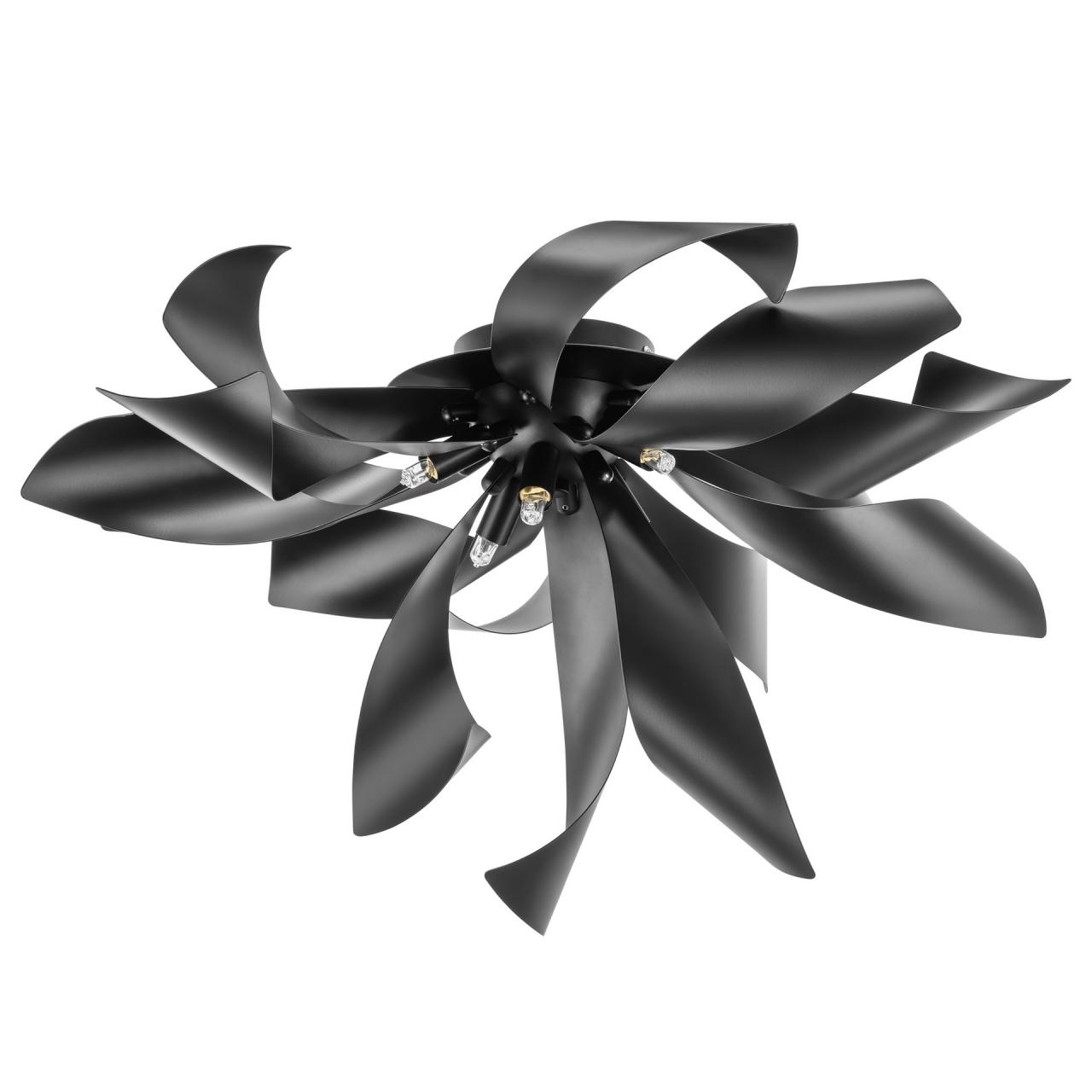 Люстра потолочная Turbio 6Х40W G9 матовая чёрная Lightstar 754167