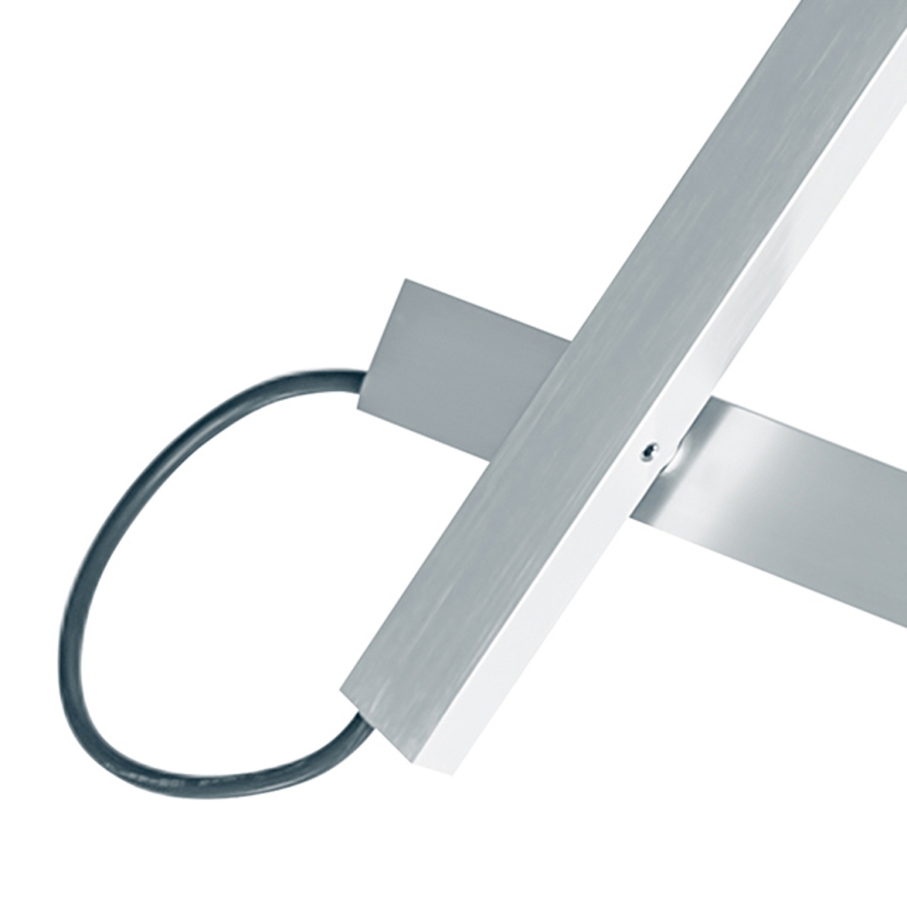Люстра потолочная MECCANO 1х60W E27 хром / белый ткань Lightstar 766019