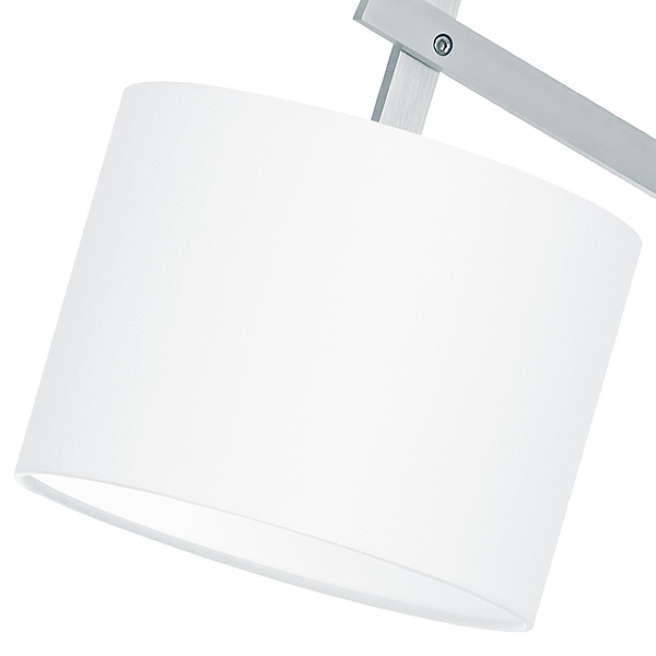 Торшер MECCANO 1х60W E27 хром / белый ткань Lightstar 766719