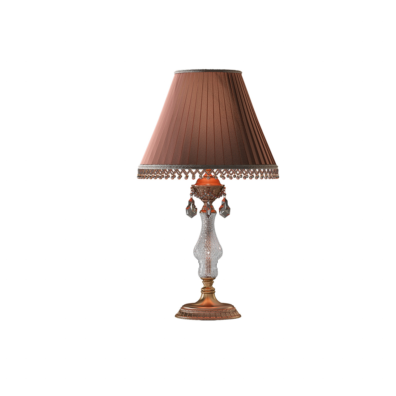 Настольная лампа Ampollo 1х40W E27 coffee gold Osgona 786912
