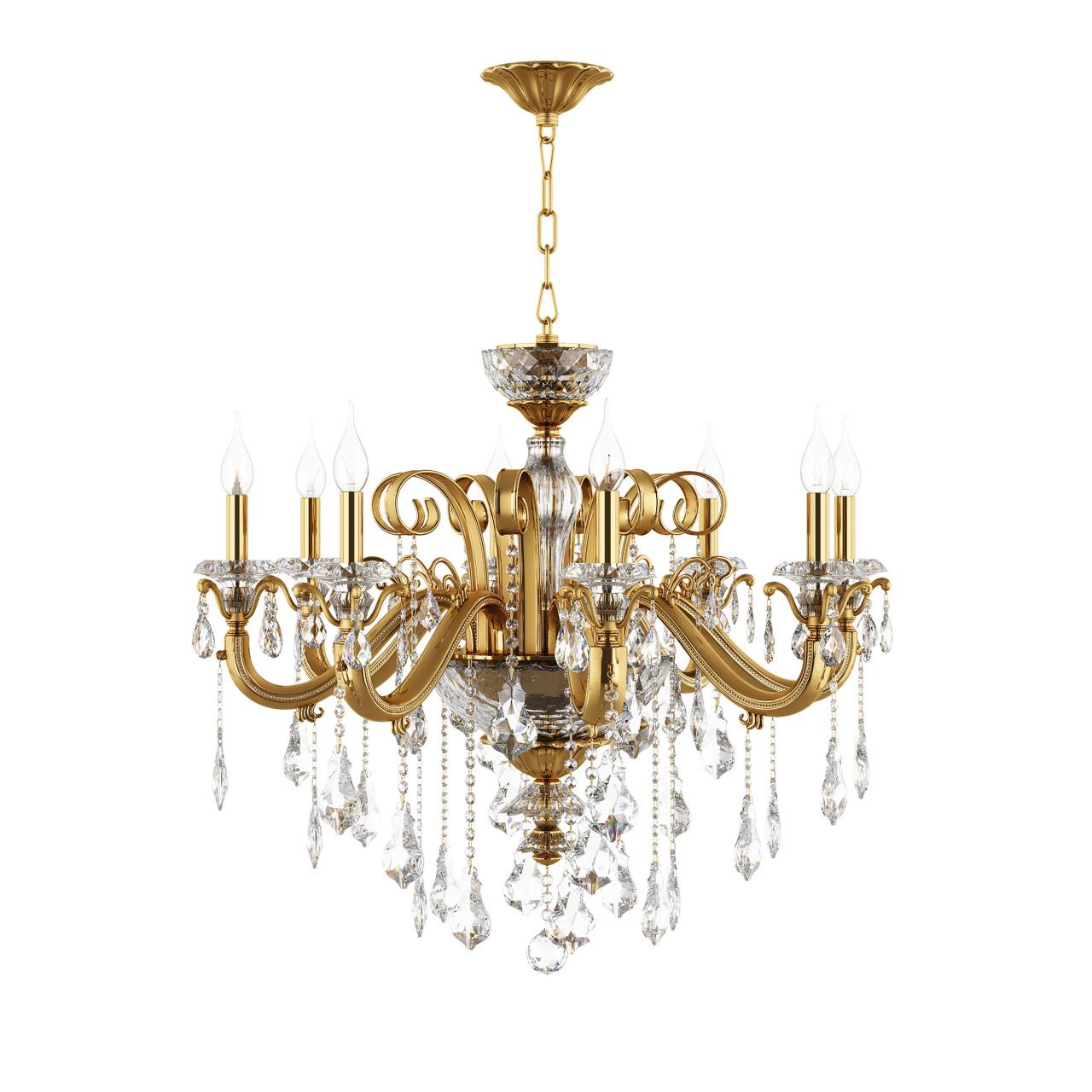 Люстра подвесная Lusso 8х60W E14 золото Osgona 788082