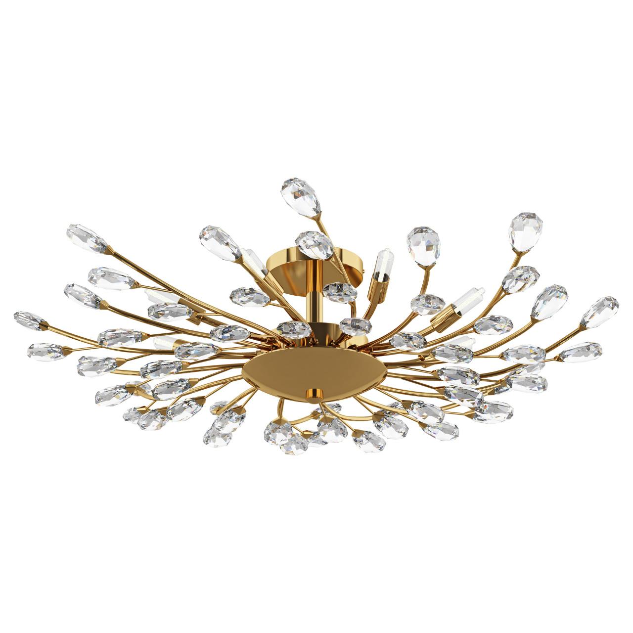 Люстра потолочная Isabelle 8х40W G9 золото Lightstar 791182