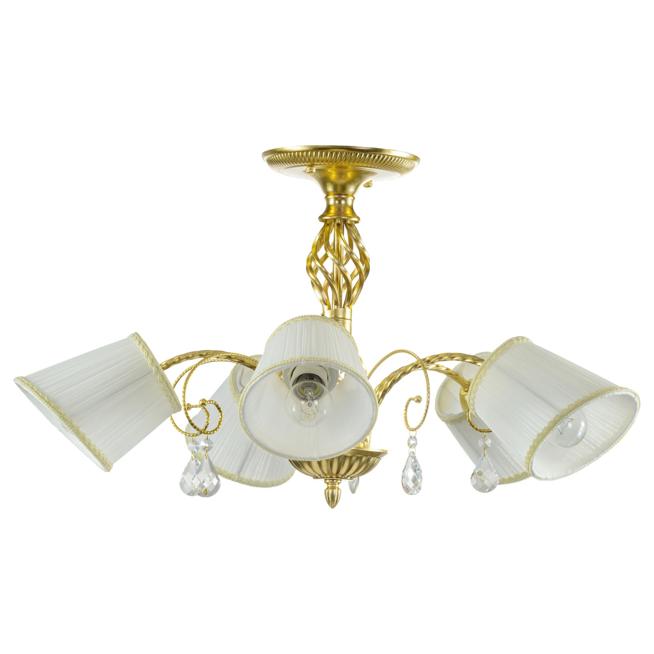Люстра потолочная Esedra 5x40W E27 gold foil ткань Lightstar 796053