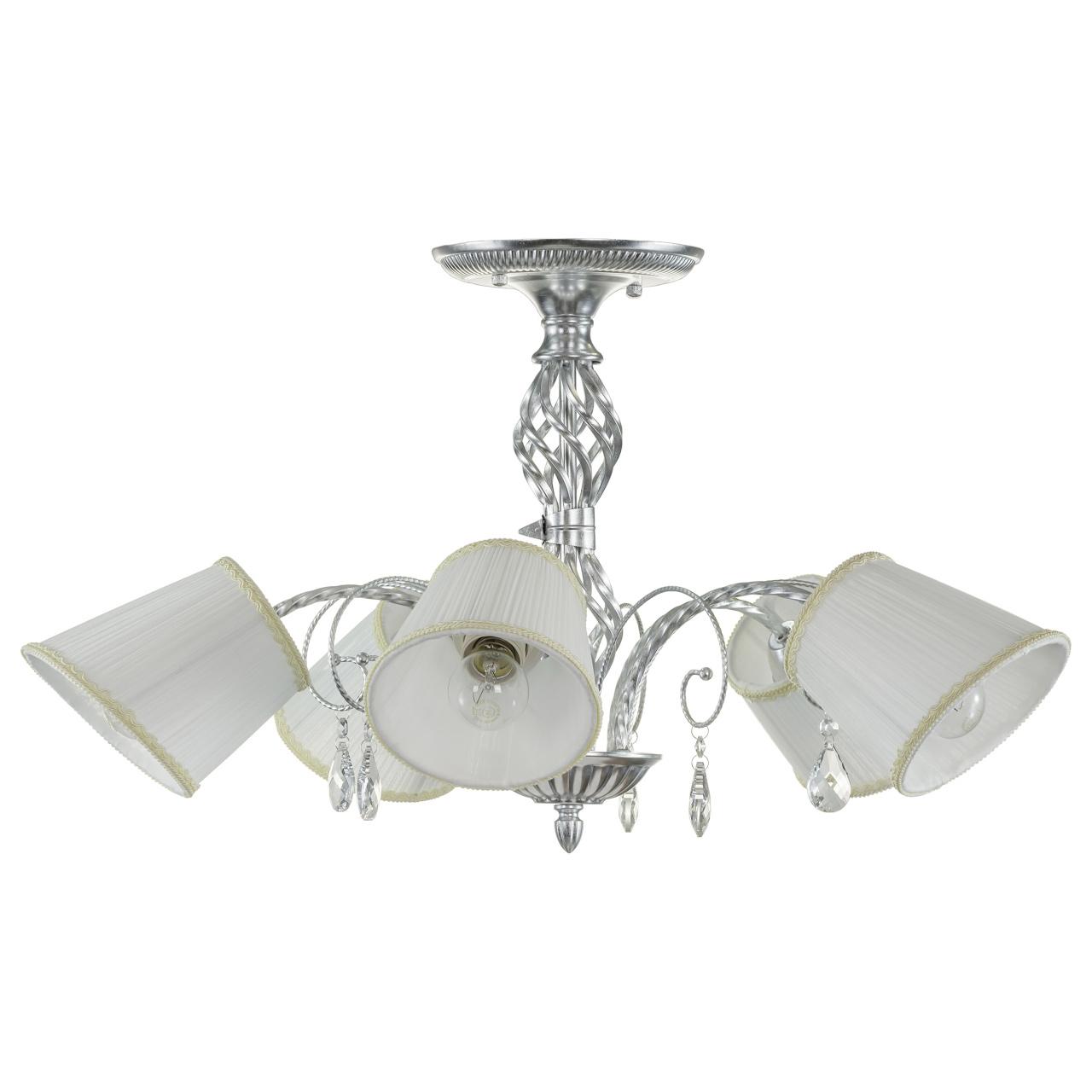 Люстра потолочная Esedra 5x40W E27 silver foil ткань Lightstar 796059