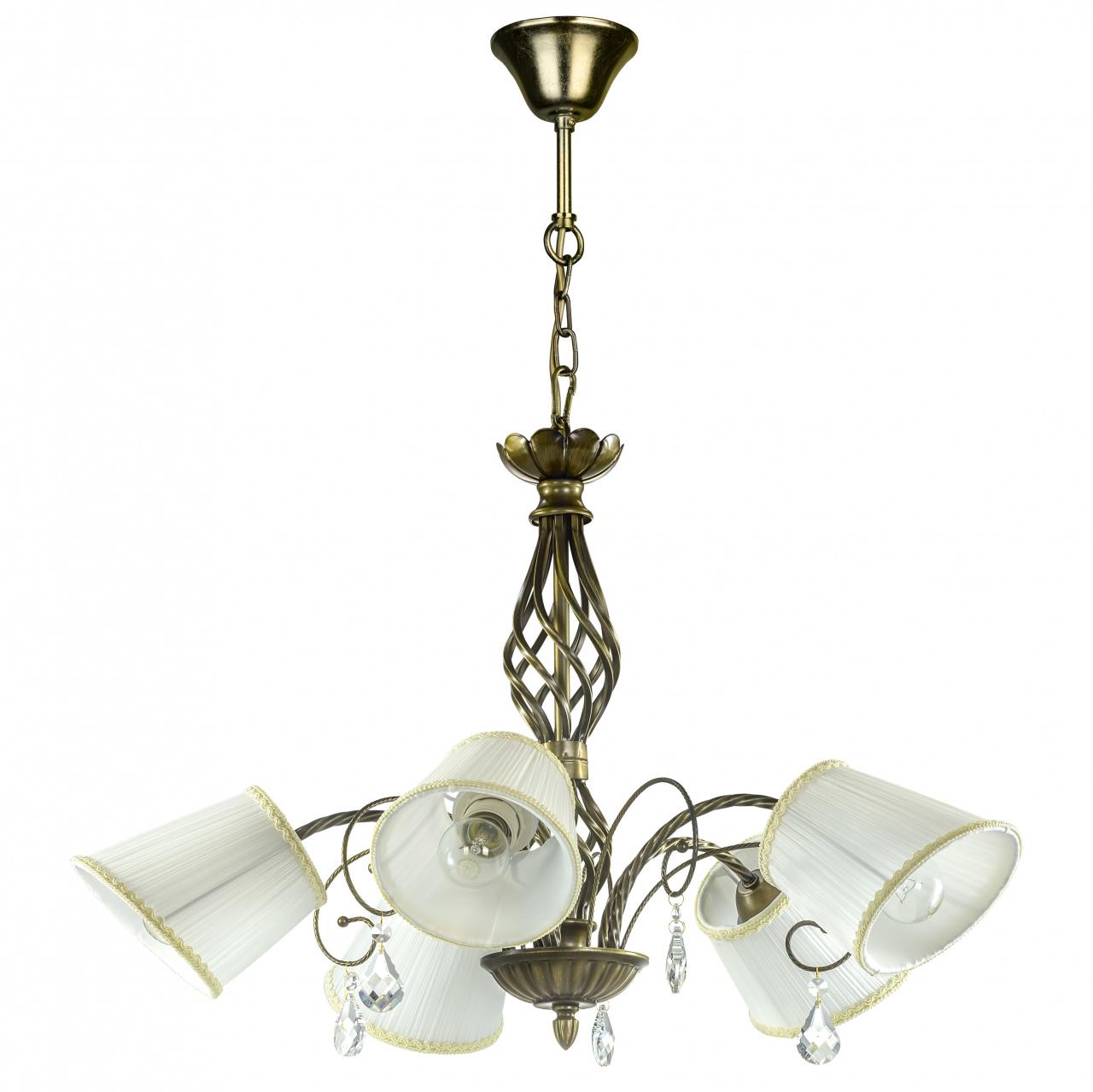 Люстра подвесная Esedra 5x40W E27 bronze ткань Lightstar 796151