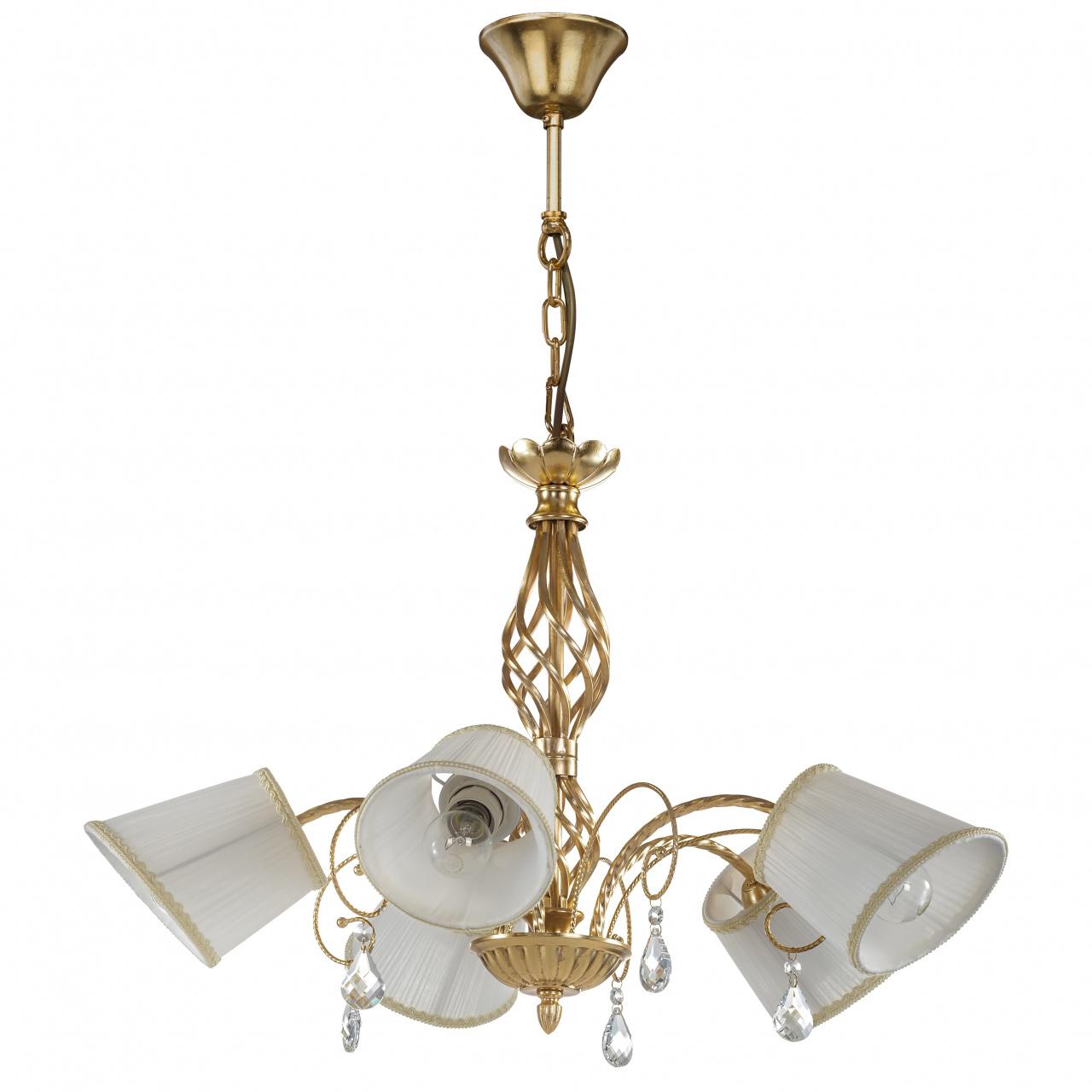 Люстра подвесная Esedra 5x40W E27 gold foil ткань Lightstar 796153