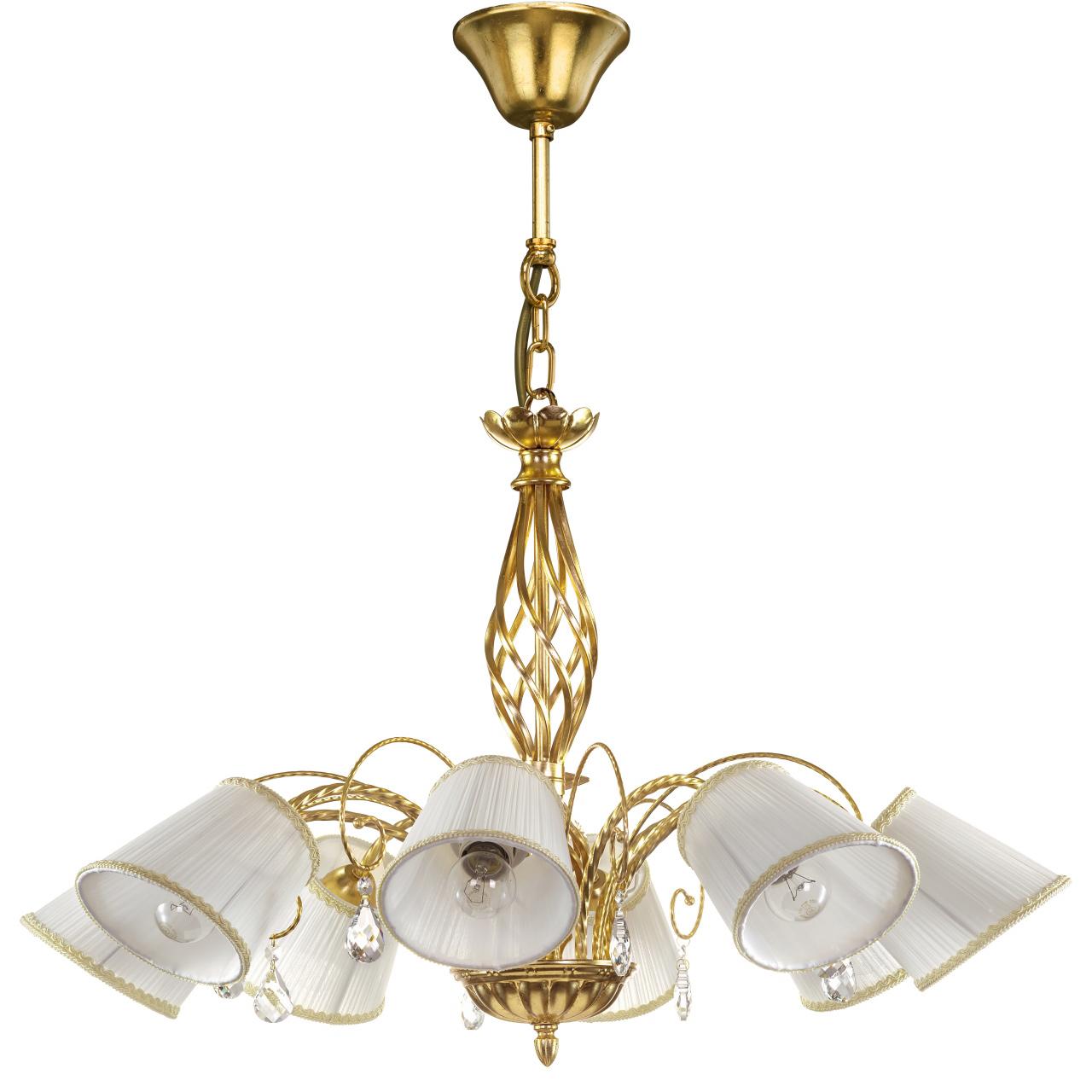 Люстра подвесная Esedra 8x40W E27 gold foil ткань Lightstar 796183