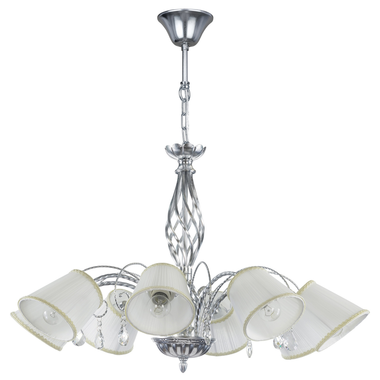 Люстра подвесная Esedra 8x40W E27 silver foil ткань Lightstar 796189