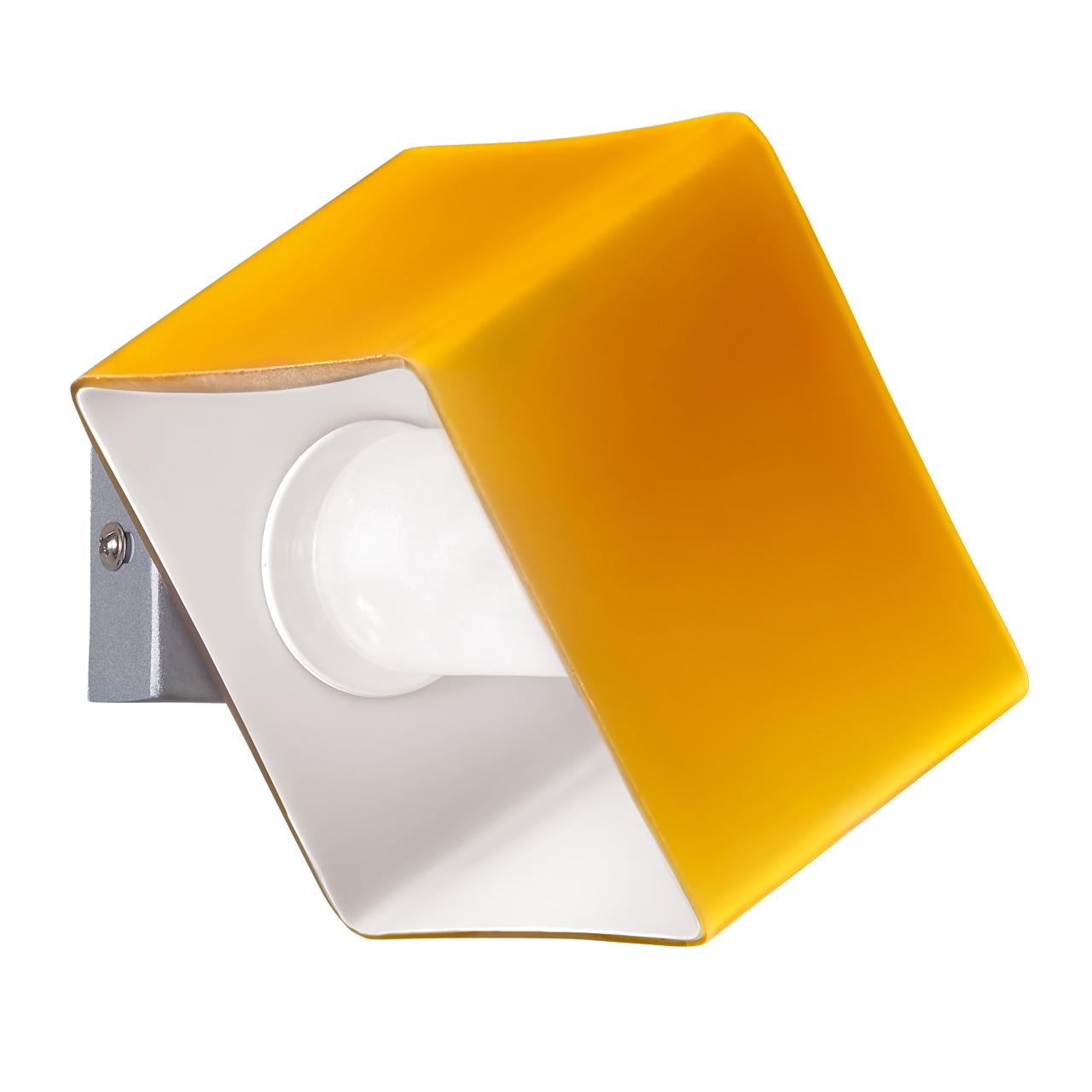 Светильник настенный Pezzo 1х40W G9 хром / янтарь Lightstar 801613