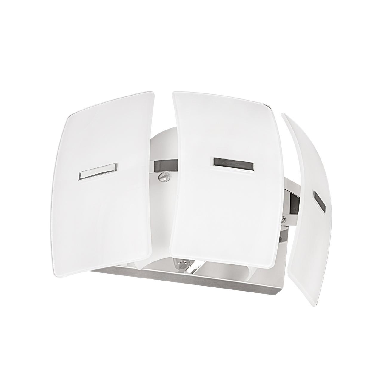 Бра Lamella 1х40W E14 хром / белый Lightstar 801616