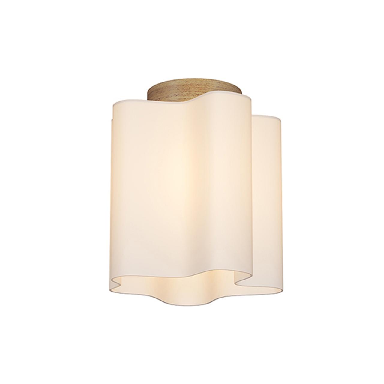 Люстра потолочная NUBI Legno 1x40W E27 светлое дерево / белый Lightstar 802015