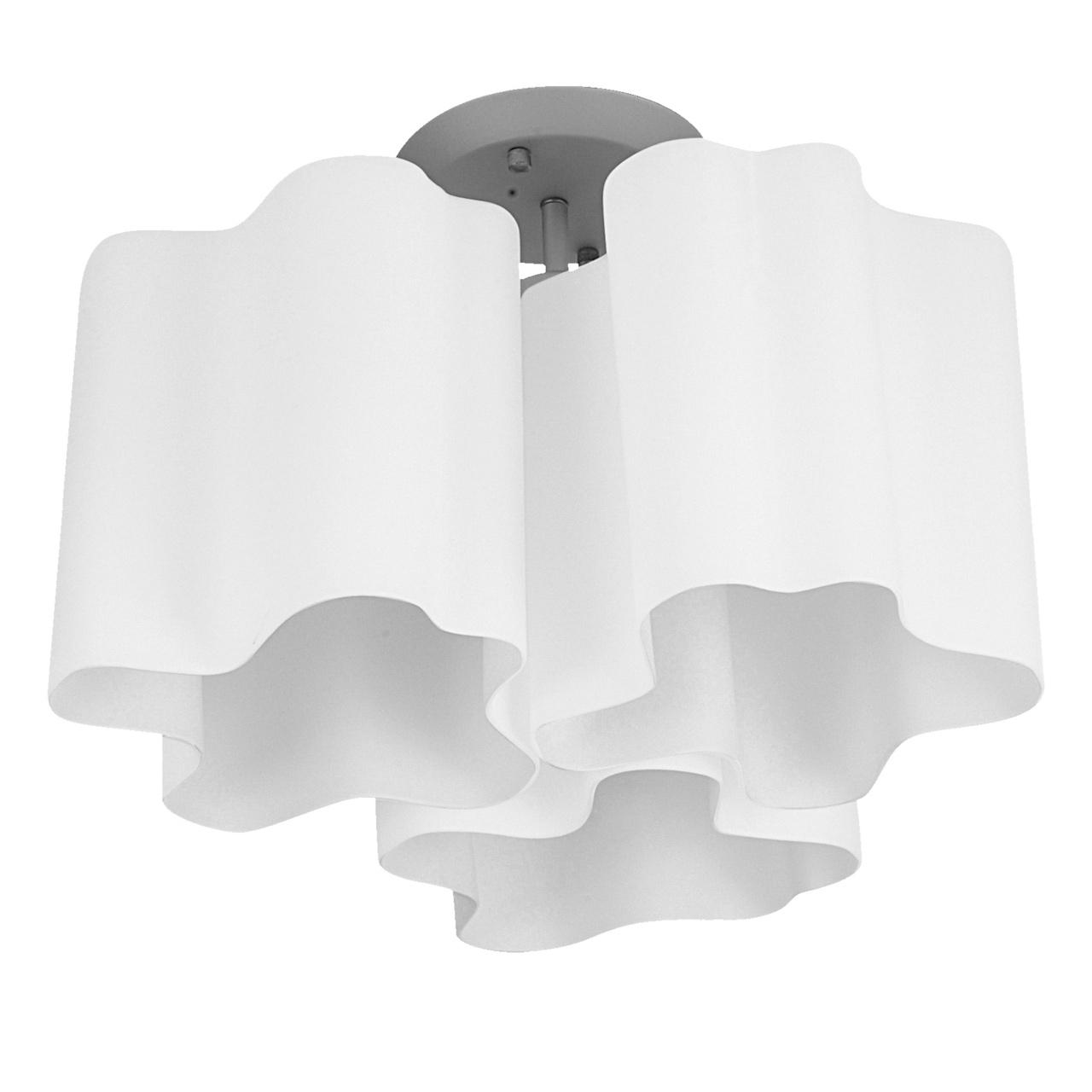Люстра потолочная Nubi 3х40W E27 хром / белый Lightstar 802030