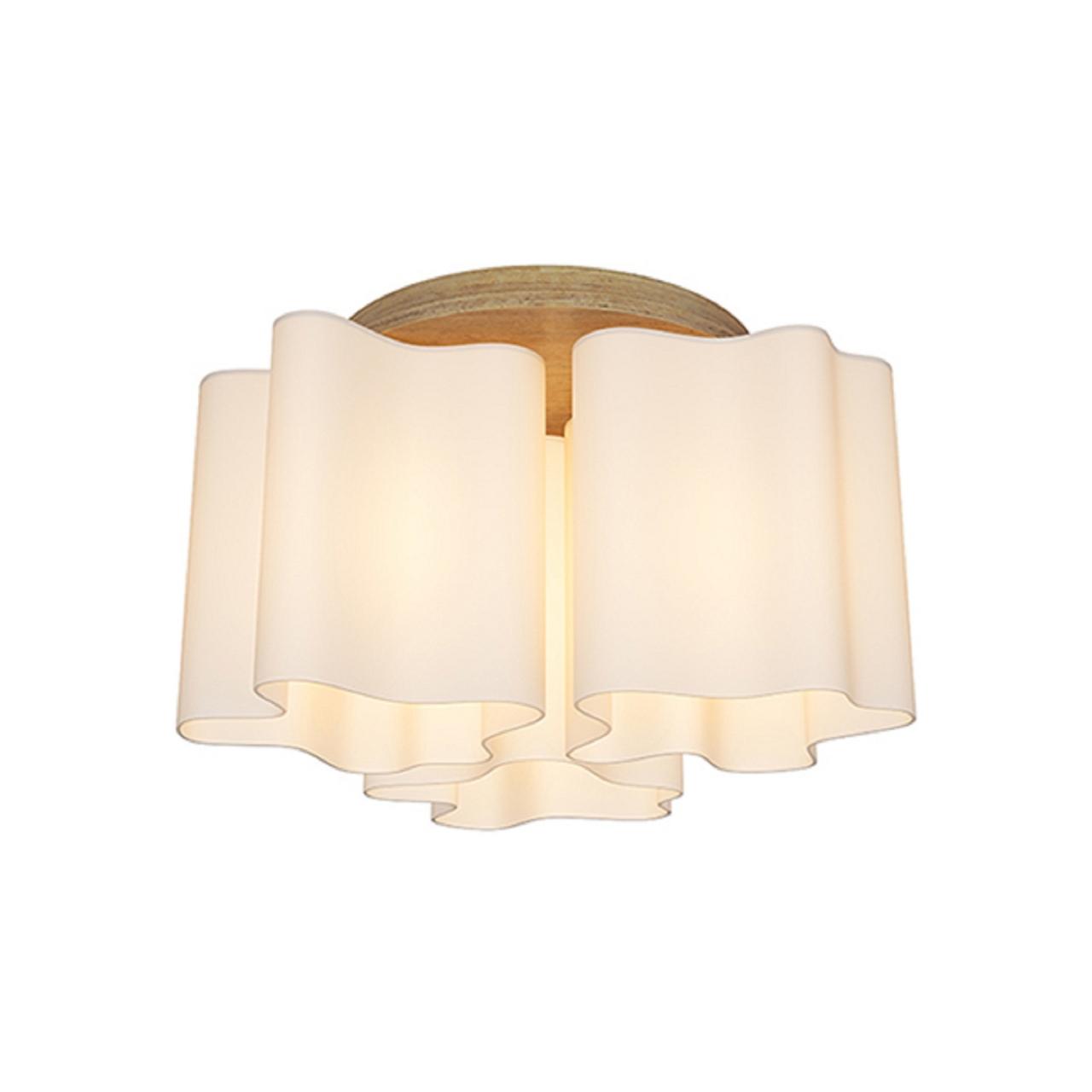 Люстра потолочная NUBI Legno 3x40W E27 светлое дерево / белый Lightstar 802035