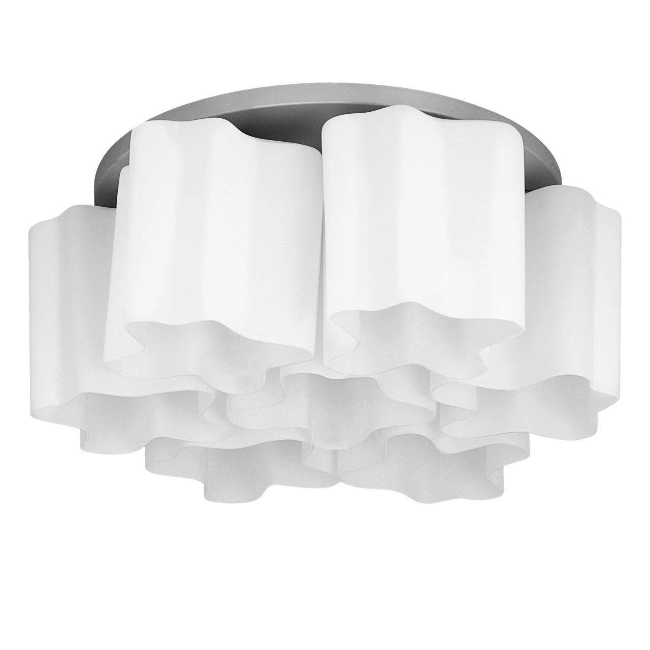 Люстра потолочная Nubi 7х40W E27 хром / белый Lightstar 802070