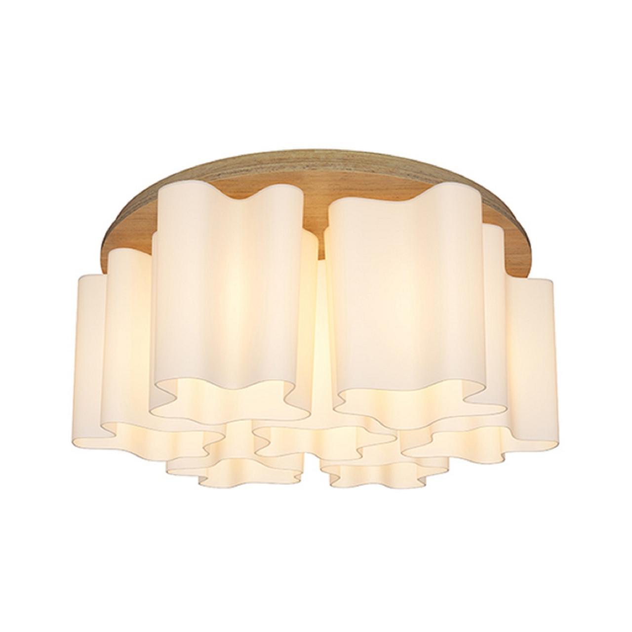 Люстра потолочная NUBI Legno 7x40W E27 светлое дерево / белый Lightstar 802075