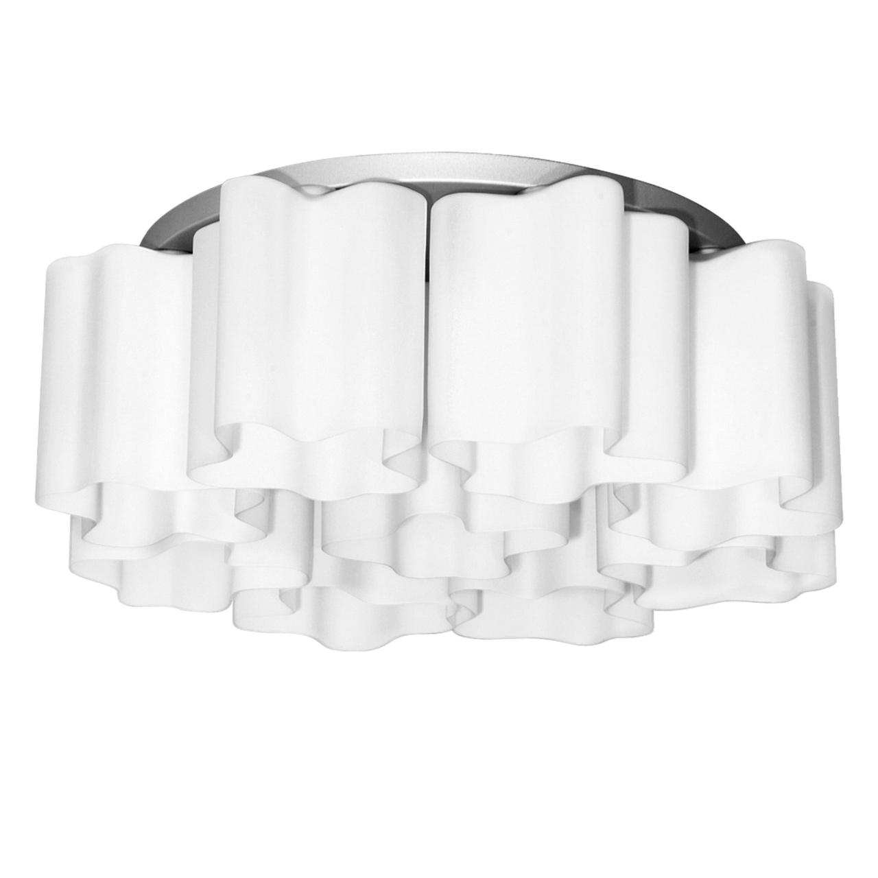 Люстра потолочная Nubi 9х40W E27 белый/ хром Lightstar 802090