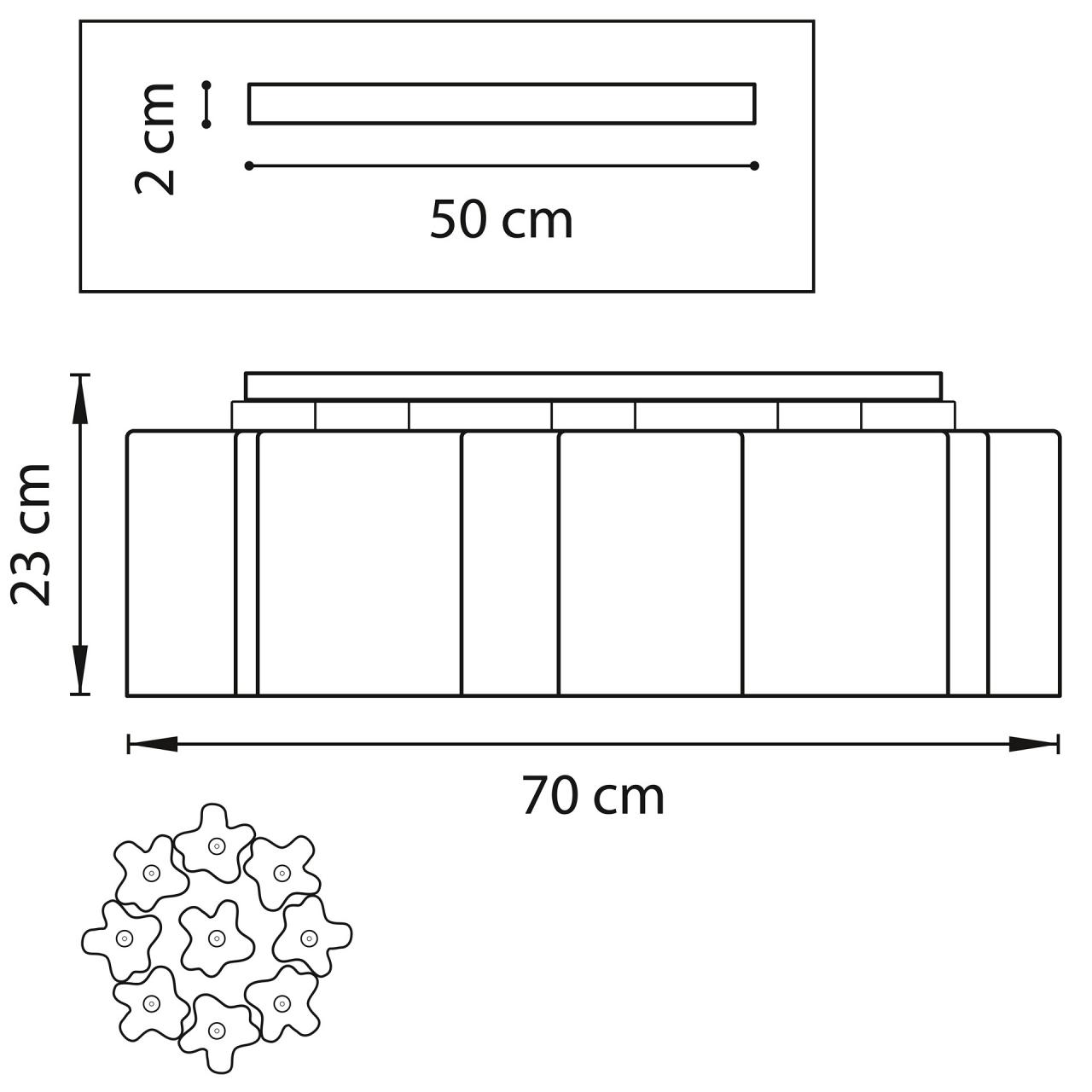 Люстра потолочная NUBI Legno 9x40W E27 светлое дерево / белый Lightstar 802095
