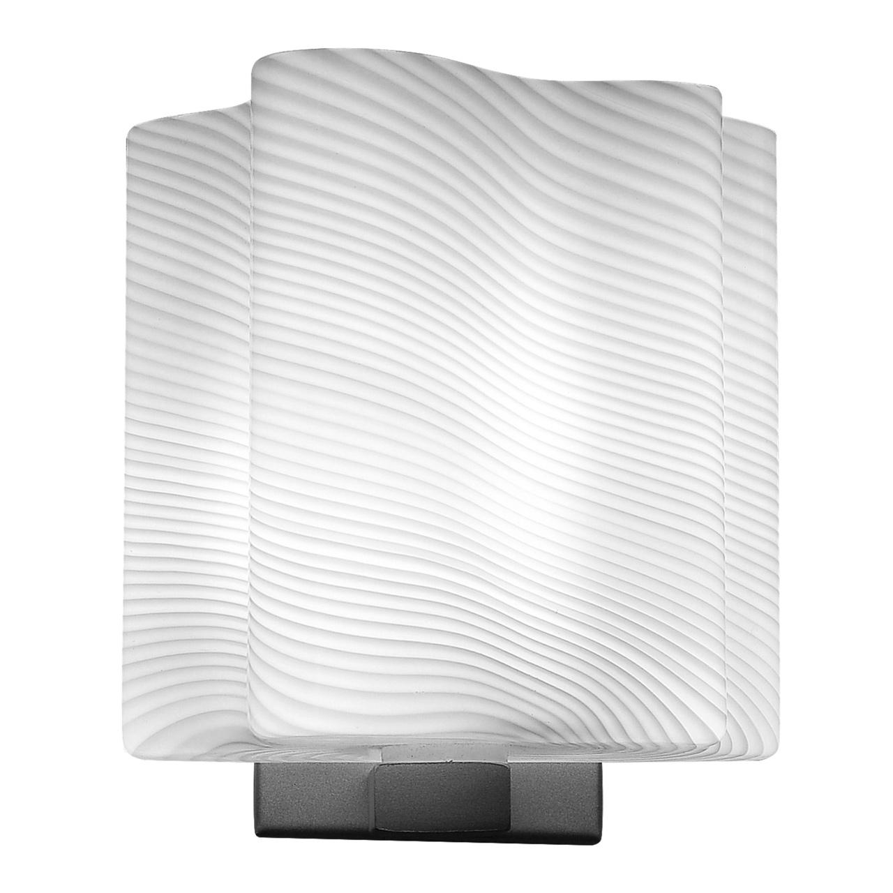 Бра Nubi Ondoso 1х40W E14 хром / белый полосатый Lightstar 802611