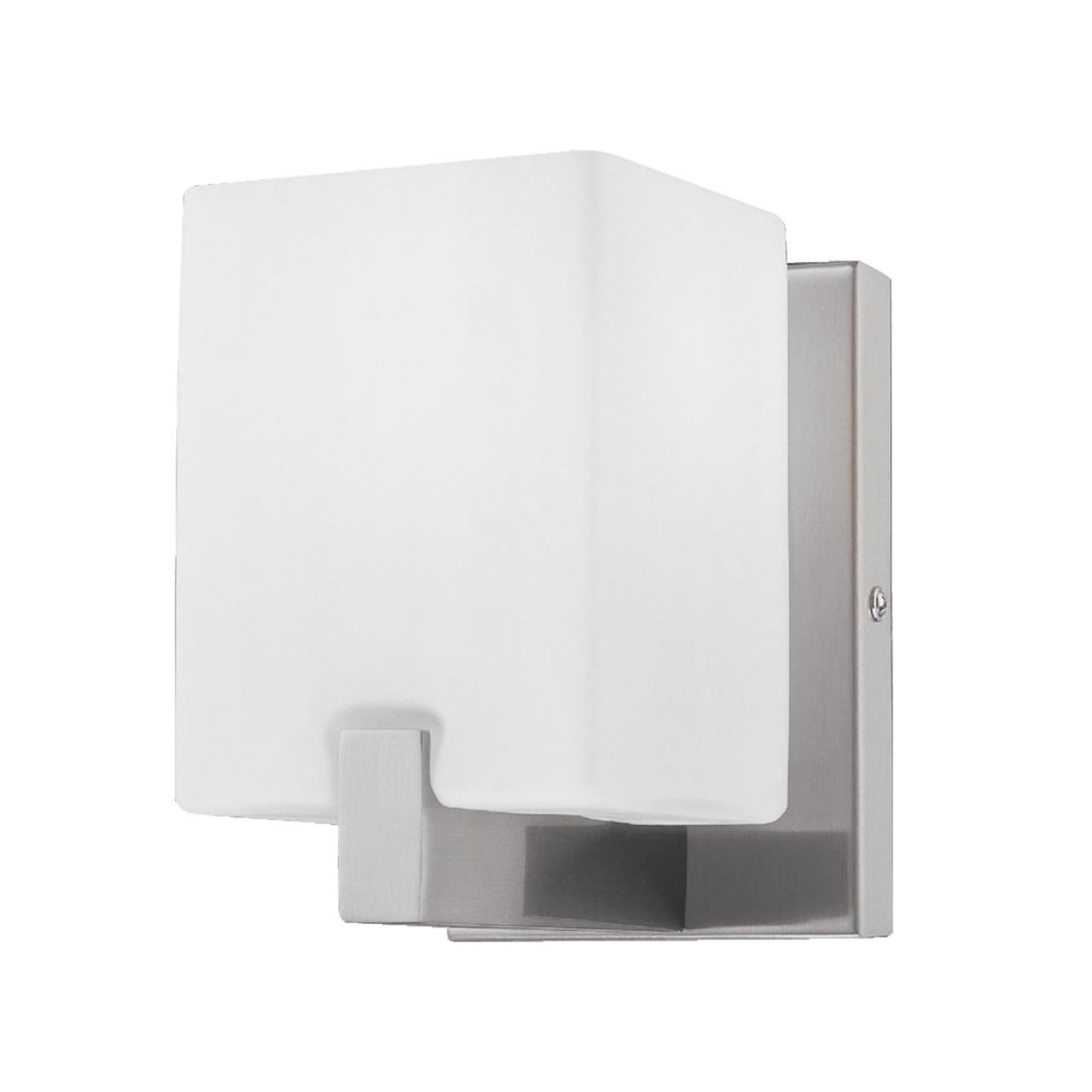 Светильник настенный Qubica 1х40W E14 13см никель / белый Lightstar 805610