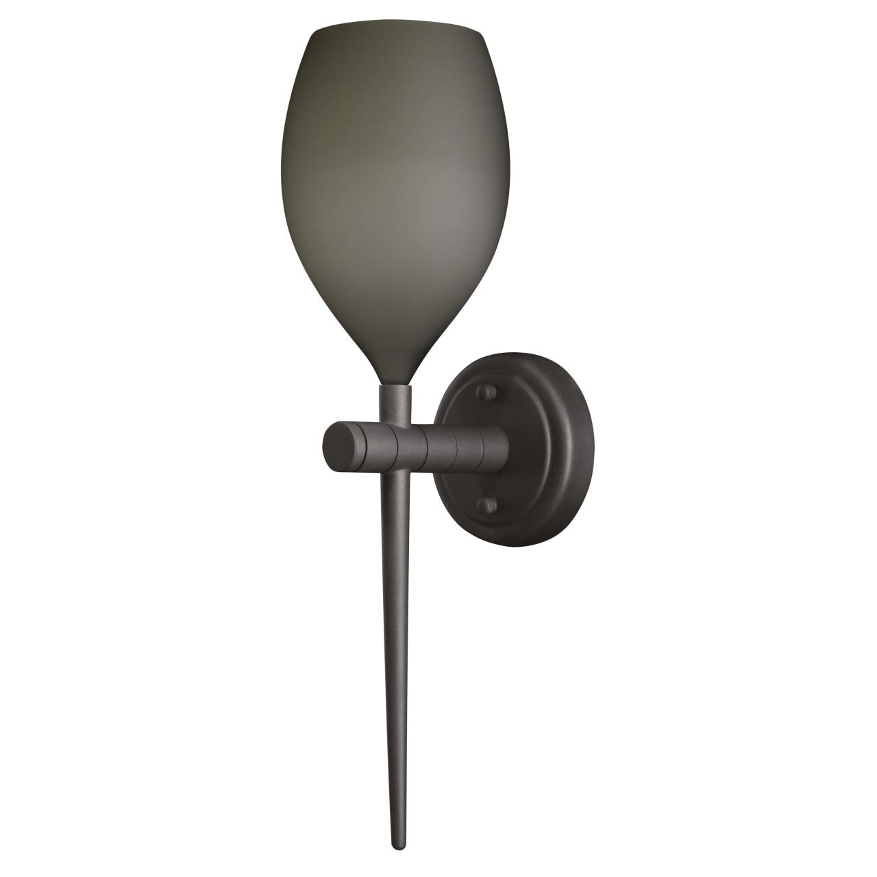 Бра Meta D'Uovo 1х40W E14 серый матовый / черный хром Lightstar 807611