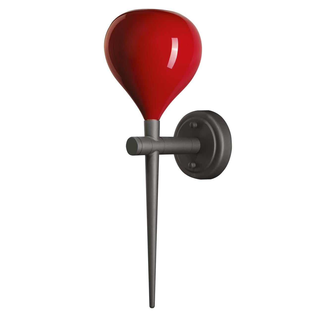Бра Forma 1х40W E14 красный / черный хром Lightstar 808652