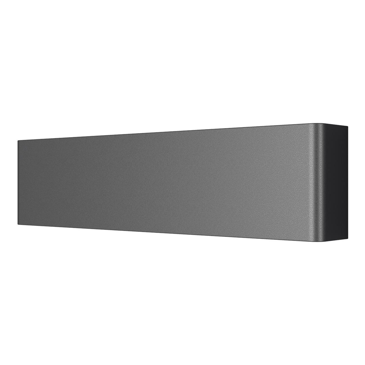 Бра Fiume 10W 950LM матовый черный 4000K Lightstar 810617