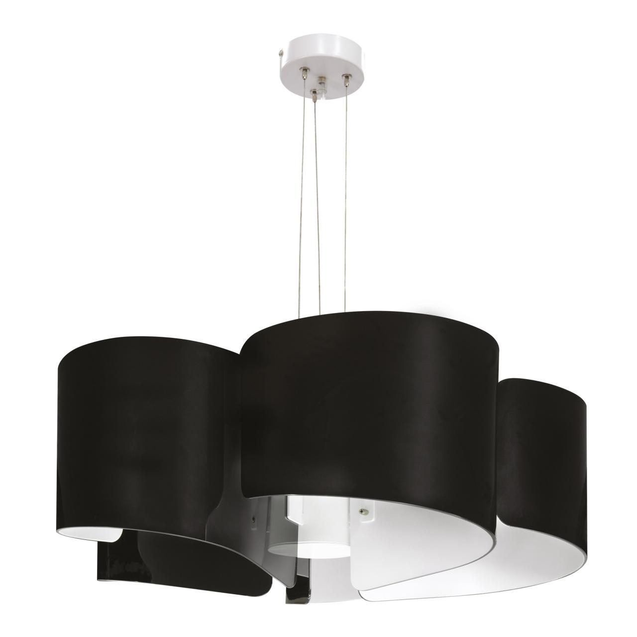 Люстра подвесная Pittore 5х40W E27 черный / белый Lightstar 811157