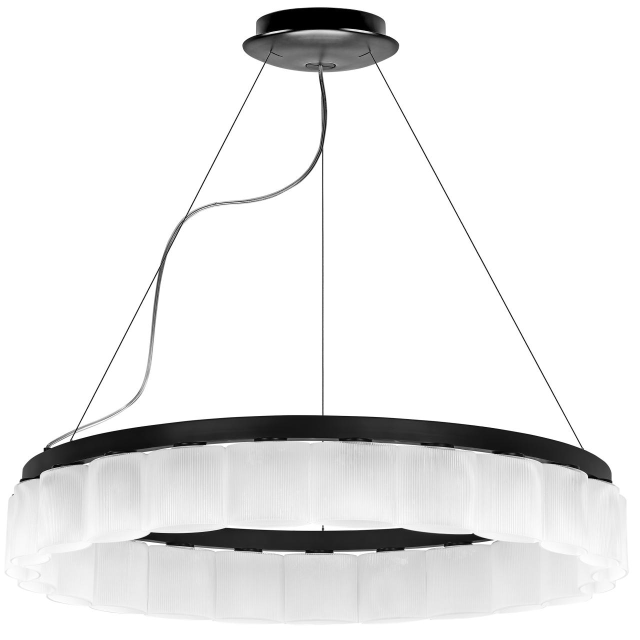 Люстра подвесная Nibbler 23х6W (Led) G9 черный / белый Lightstar 812236