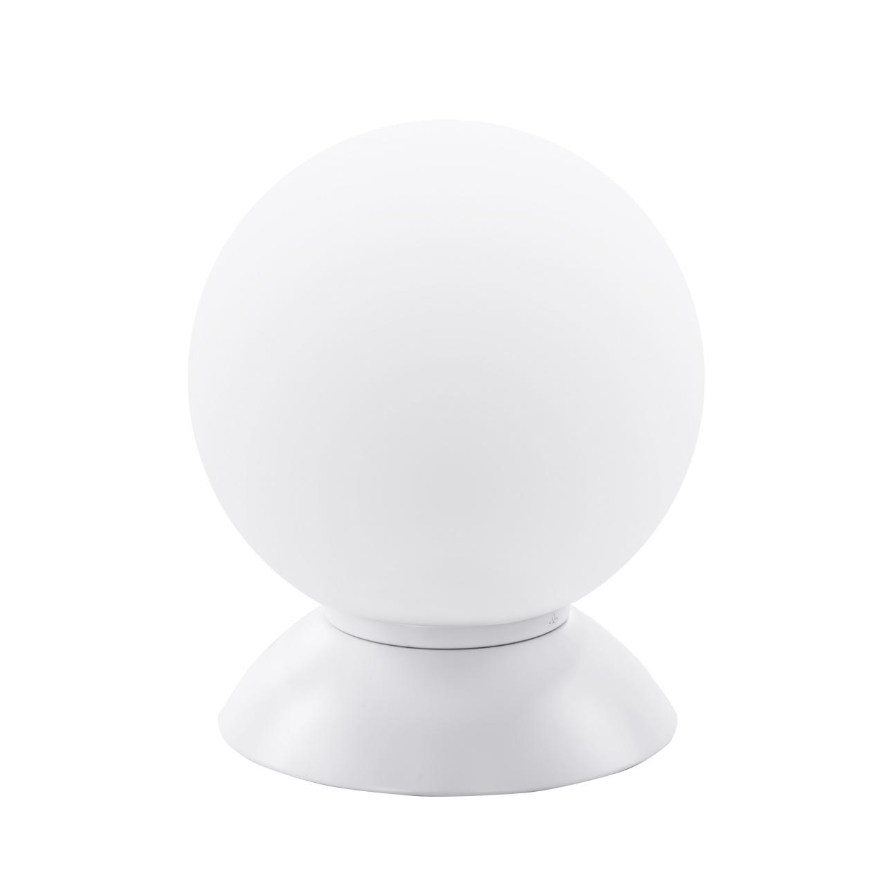Настольная лампа Globo 1х40W E14 mute white/white Lightstar 813916