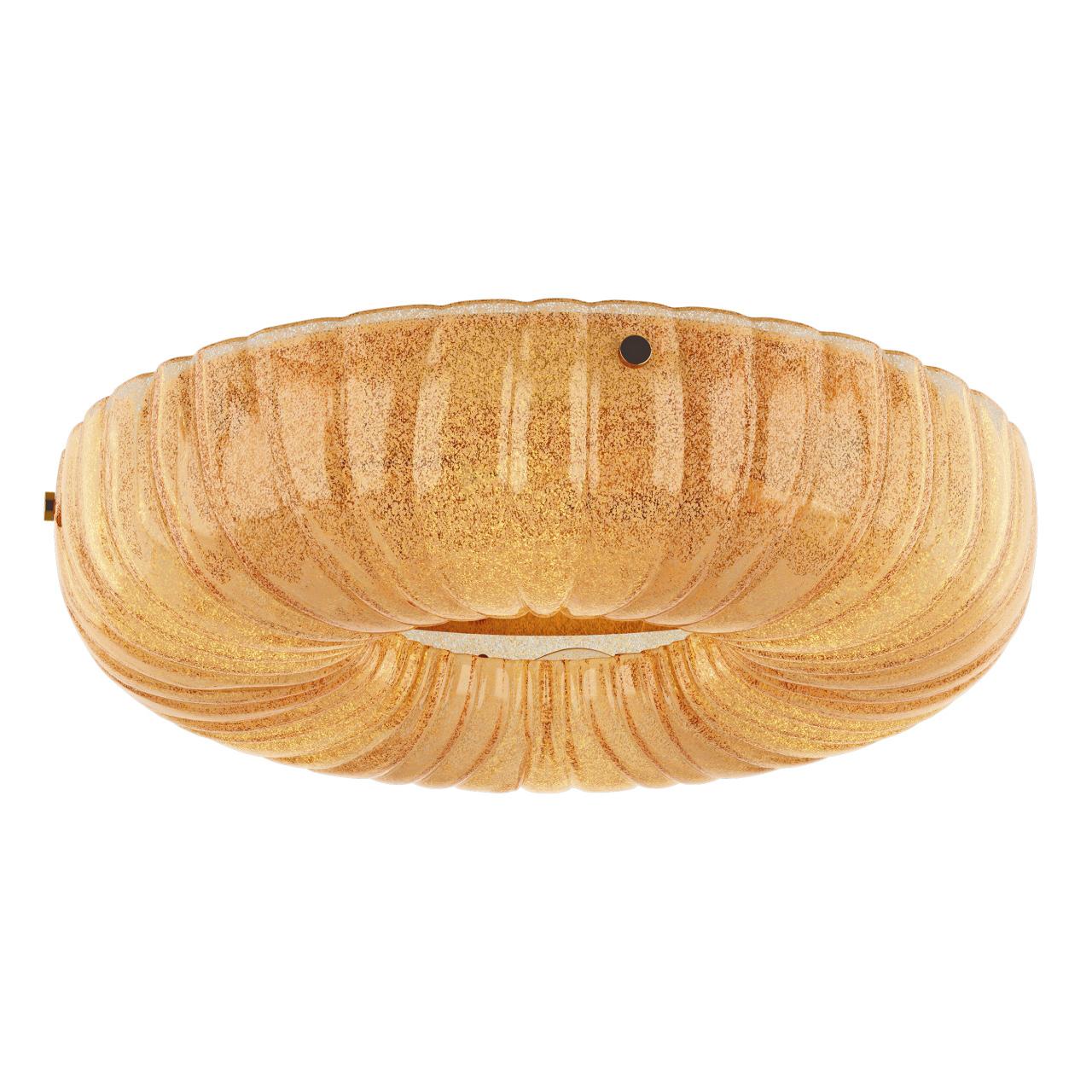 Плафон потолочный Zucche 6х60W E14 золото / янтарь Lightstar 820363