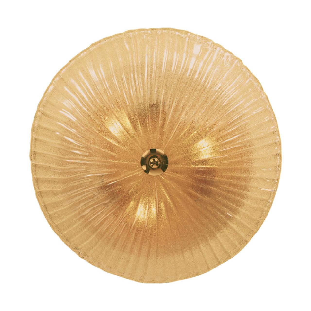 Плафон потолочный Zucche 3х60W E27 янтарь Lightstar 820833