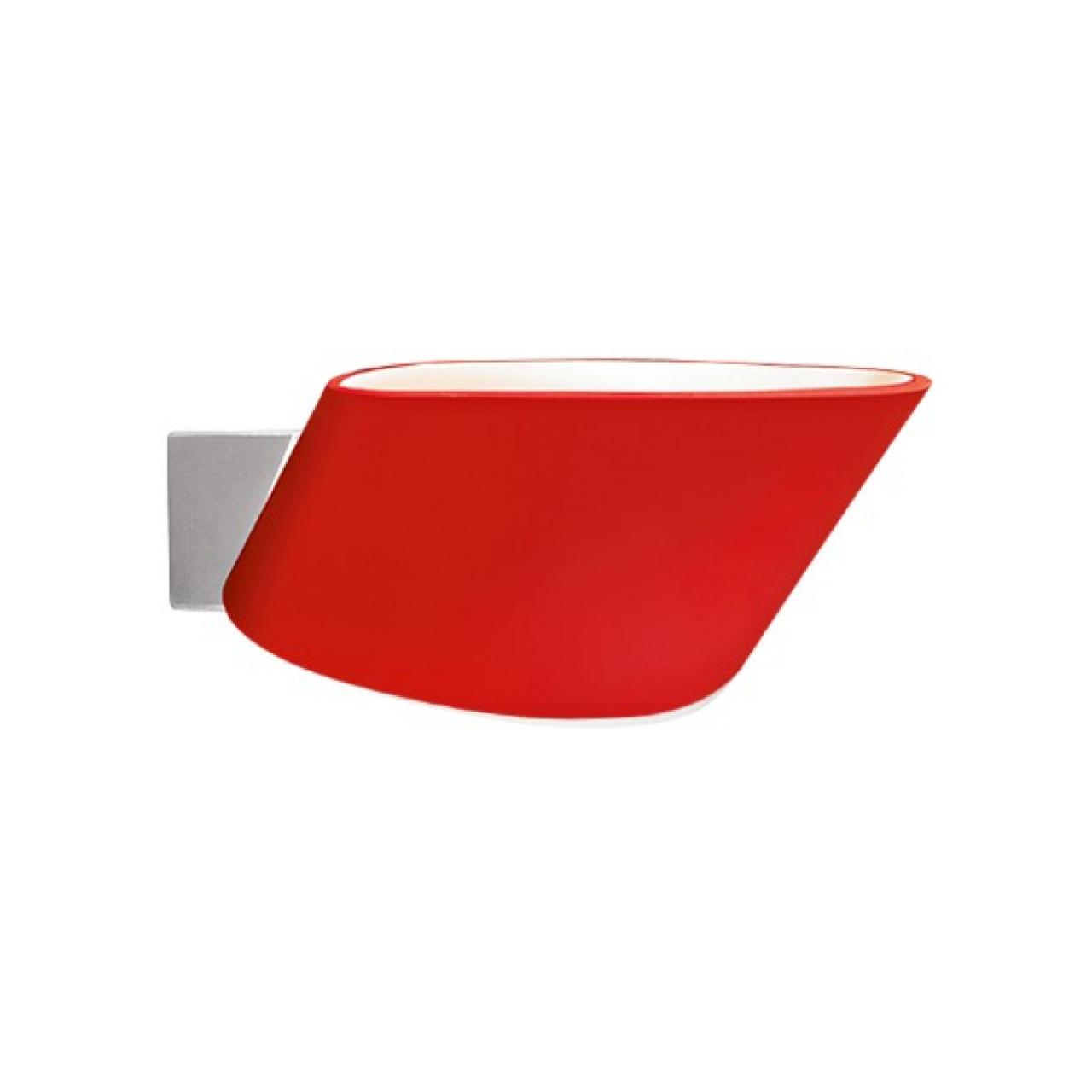 Светильник настенный Muro 1х150W R7s красный Lightstar 808632
