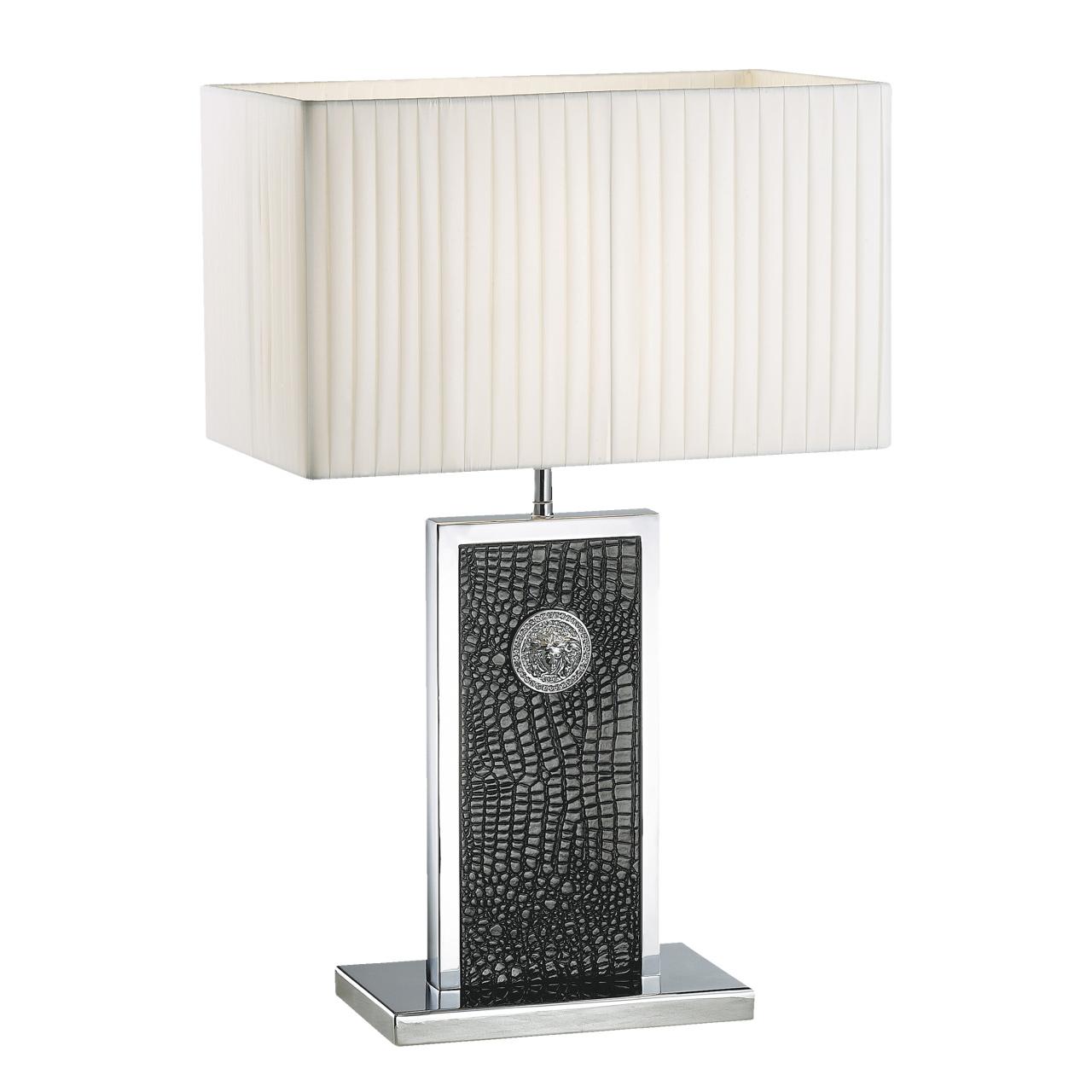 Настольная лампа Faraone 1х60W E27 кожа / черный / хром Lightstar 870937